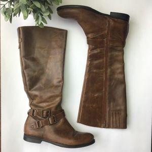 """Matisse cognac """"britain"""" riding boot"""
